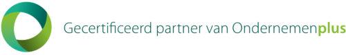 OndernemenPlus gecertificeerdpartner logo